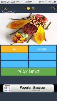 Quiz game intresting and interactive poster