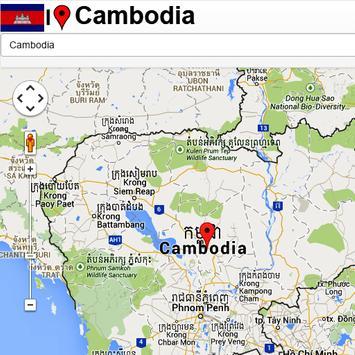 Cambodia mapas poster