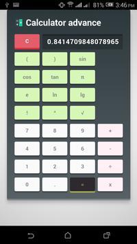 Calculator Advance apk screenshot