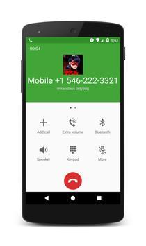 Call From Miraculous Ladybug screenshot 1