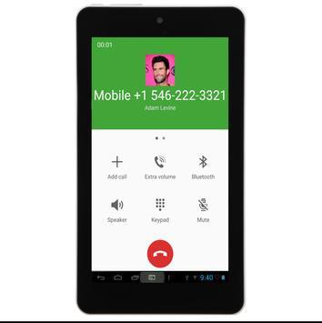 Call From Adam Levine apk screenshot