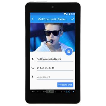 Call From Justin Bieber apk screenshot