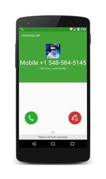 Call From Justin Bieber poster