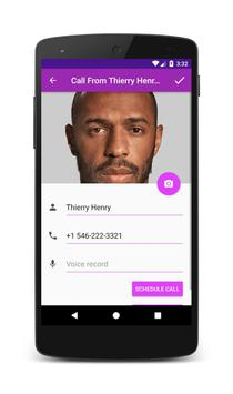 Call From Thierry Henry apk screenshot