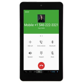 Call From Zayn Malik apk screenshot