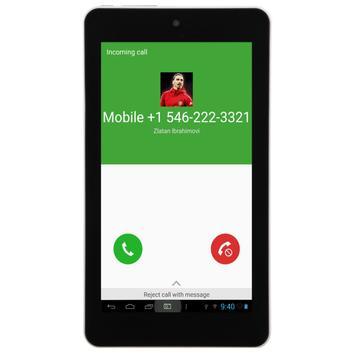 Call From Zlatan Ibrahimovic apk screenshot
