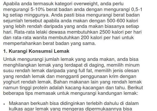 Cara Diet Ala Dokter apk screenshot