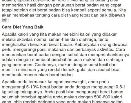 Cara Diet Ala Dokter poster