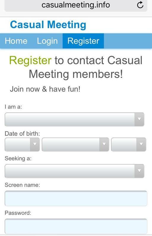 ... Casual Discreet Dating apk screenshot ...