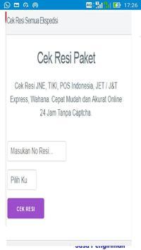 Cek RESI Kiriman Barang apk screenshot