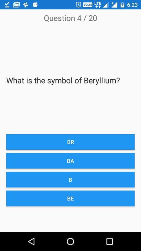 Chemical Elements And Periodic Table Symbols Quiz Apk