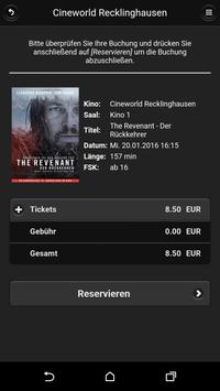 Cineworld Recklinghausen apk screenshot