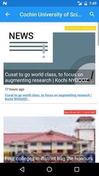 CUSAT News apk screenshot