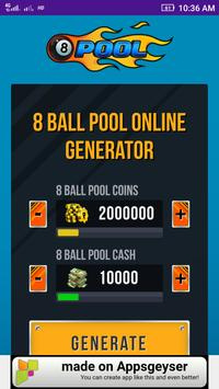 Generate 8 ball pool coin poster