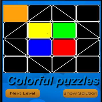Colorful puzzles poster
