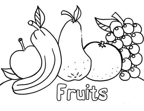 Color the fruits poster