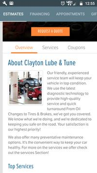 Clayton Lube and Tune poster
