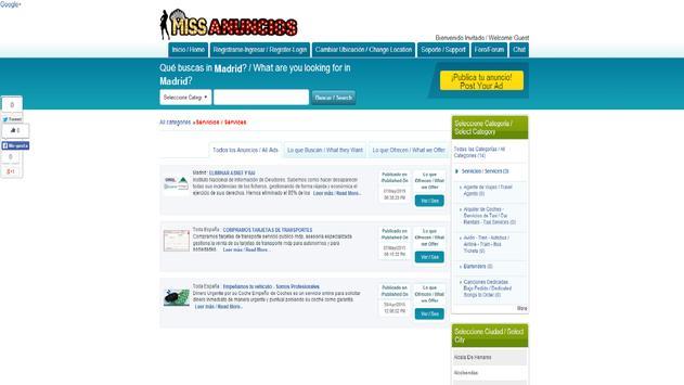 Classifieds Missanuncios.com screenshot 1