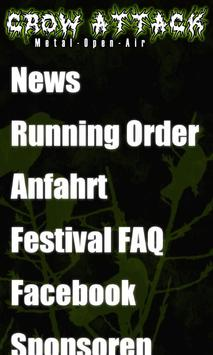 Crow Attack Festival poster