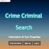 Crime Criminal Search icon