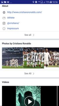Cristiano Ronaldo Facebook Page App screenshot 1