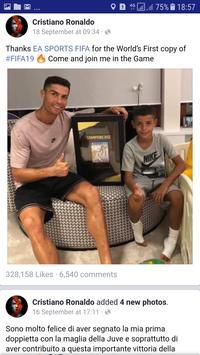 Cristiano Ronaldo Facebook Page App screenshot 7