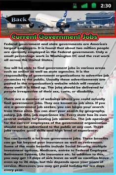 Current Government Jobs poster