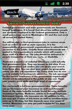 Current Government Jobs apk screenshot