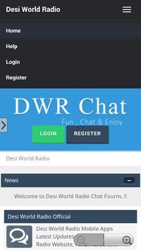 Desi World Radio Chat Forum apk screenshot