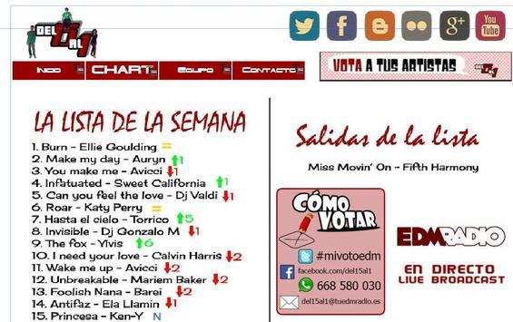 Del 15 Al 1 EDM RADIO Oficial apk screenshot