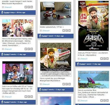 Dhanush Socialmedia screenshot 1