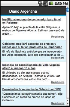 Diario Argentina poster