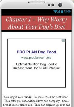 Diet Plan For Dog apk screenshot