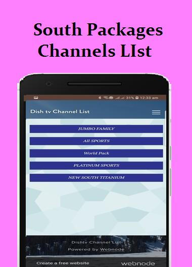 Dish Tv Channel List & Packages for Android - APK Download