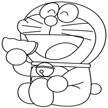 Doraemon Colouring Book For Kids Poster