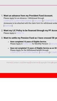 EPF Withdrawal Form Online apk screenshot