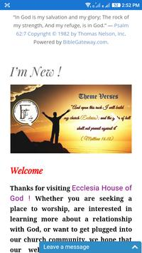 Ecclesia House of God poster