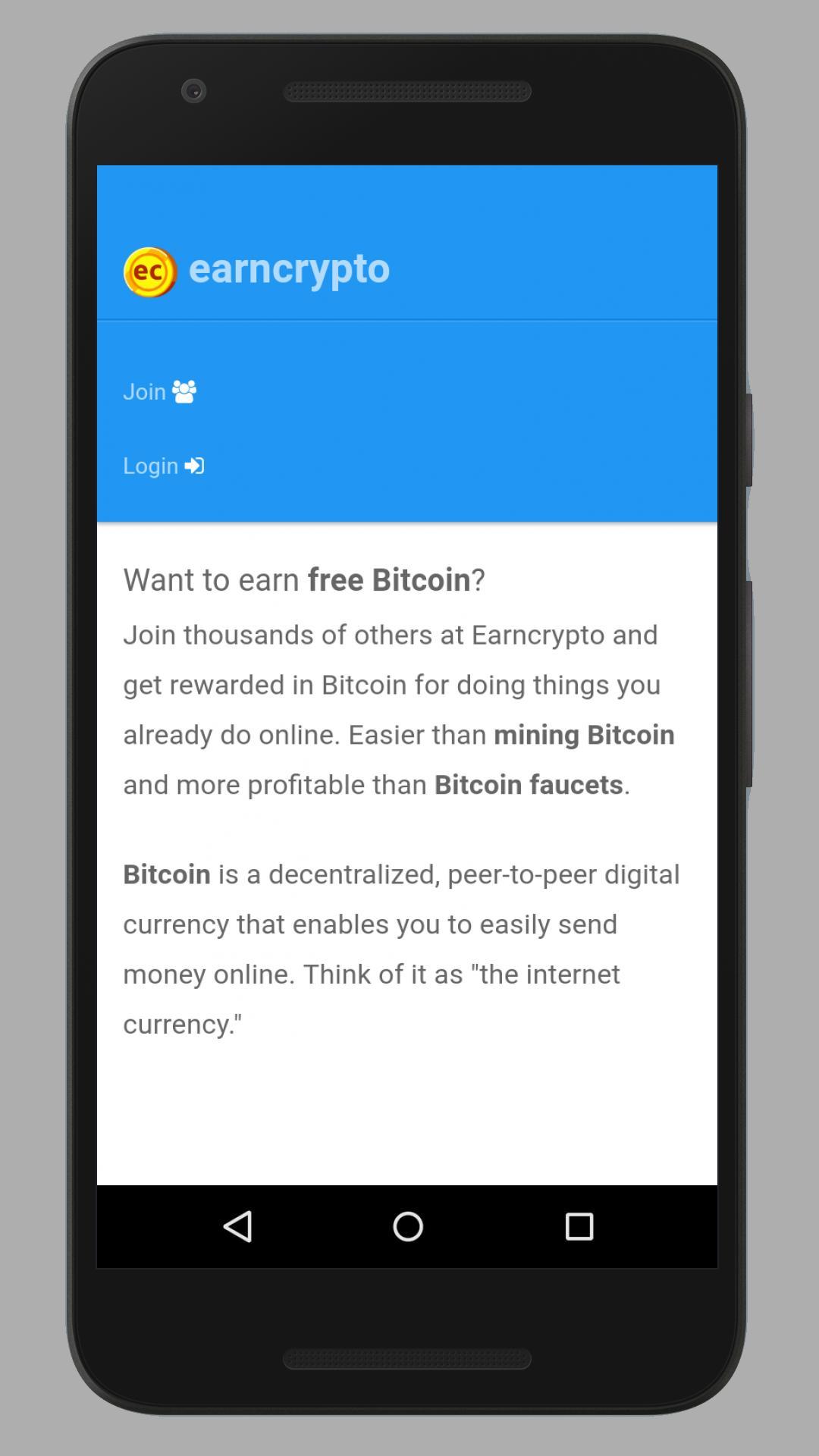 Crypto Earn Login