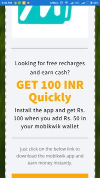 Earn Free Cash / Recharges screenshot 1