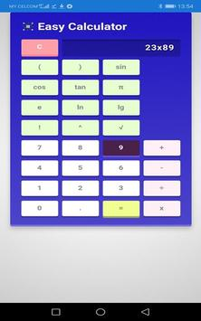 Easy Calculator screenshot 1
