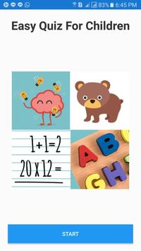 Easy Quiz For Children poster
