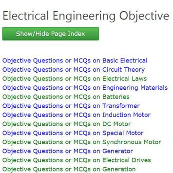 Electrical Engineering MCQ poster