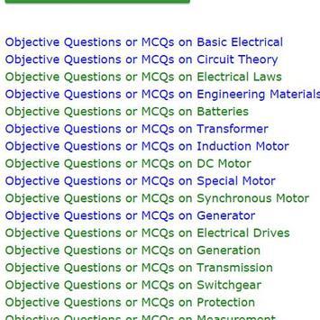 Electrical Engineering MCQ apk screenshot