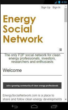 Energy Social Network poster