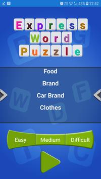 Express Word Puzzle poster