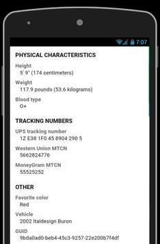 Fake Tracking Number