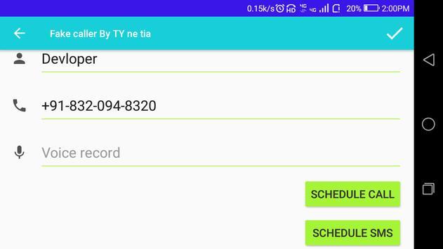Fake Caller By TY ne tia screenshot 11