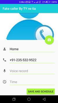 Fake Caller By TY ne tia screenshot 2