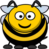 Fall down bee icon