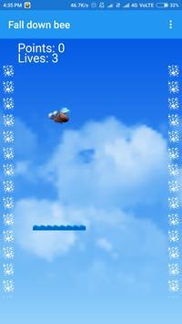 Fall down bee screenshot 1